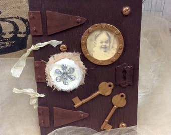 Journal or Note Book Vintage Inspired Steampunk Style