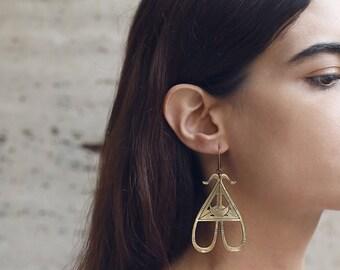 ON SALE serpentine long earrings