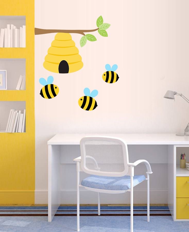 Installing Shower Tile Bee wall decal Nursery wall decor Beehive Bumble bee by ...