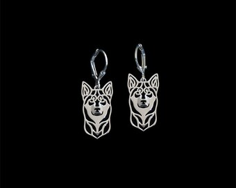 Lapponian Herder (Lapinporokoira) earrings - sterling silver