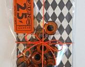 19mm Amber Plastic Doll Eyes*12 Orange  Eyes*Vintage Doll Parts*Creepy Halloween Owl Eyes*Assemblage Supplies