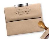 Return address stamp - rubber stamp - self inking stamp - modern stamp - Sherwood