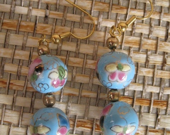 Turquoise Cloissone Drop Earrings