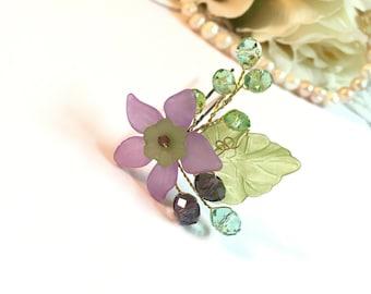 Flower Girl Hair Pin Purple, flower girl hair accessories, flower headpiece, flower girl headpiece, floral hair pins, flower girl head piece