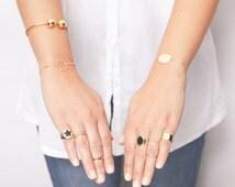 Perfect Circle Bracelet Karma Stacking Layering  Bracelet Delicate Everyday Gold Filled or Sterling Silver Bracelet.