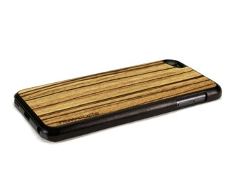 iPod Touch Wood Case Zebrawood, Wood iPod Touch 6 Case, iPod Touch 5 Wood Case