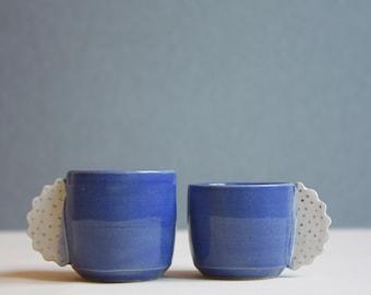 Espresso cups handmade set of 2