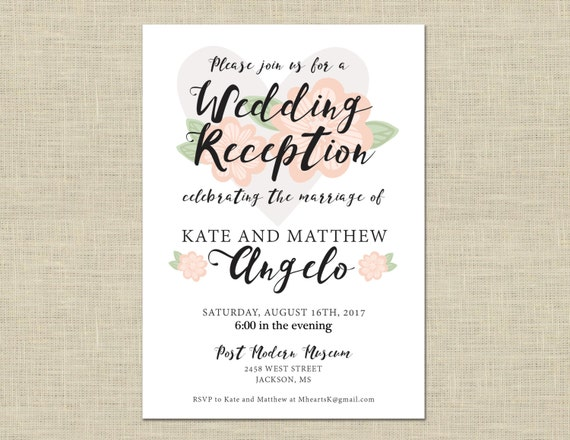 Reception Invitations Only as luxury invitation template