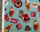All About Coffee Cotton Fabric by the Yard Exclusively Quilters