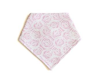 Organic Bandana Bib || Pink Roses || Ouba Exclusive