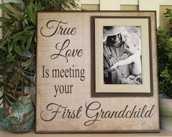 New Grandparent Gift ~ Picture Frame For Grandfather ~ Christmas Grandmother Gift ~ Grandfather Mimi ~ Customized Frame ~First Grandchild