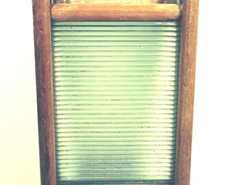 Vintage Washboard Lingerie Laundry Board Glass Scrub Board Laundry Room Decor