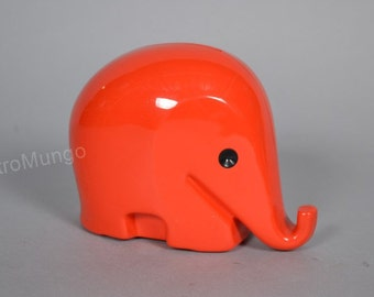 Luigi Colani Design - Red  Elephant moneybox -- Drumbo - Dresdner Bank