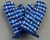 Doctor Who Oven Mitt and Pot Holder Sets and Singles - Nerdy Kitchen Decor