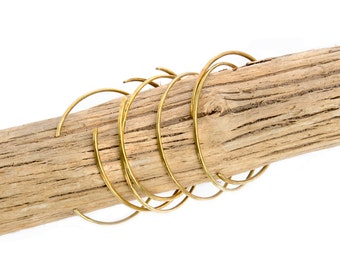 Brass Hammered Thin Cuff Bracelet