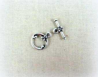 TierraCast - Classic Toggle Clasp (TC-6045-12) - Antiqued Silver