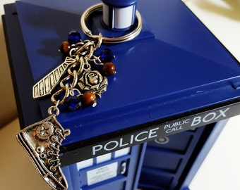 The Tenth Doctor Whovian Keychain {Doctor Who, Ten, David Tennant Inspired}