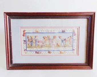 Scherenschnitte Eavenson 94 23rd PSALM Framed Folk Art RW ...