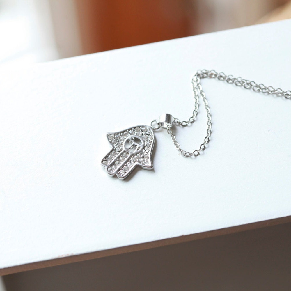 Celebrity Necklace Hamsa Hand Hamsa Necklace Hamsa Charm