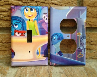 Inside Out Light Switch and Electrical Outlet Cover, Inside Out Joy, Inside Out Anger, Inside Out Sadness, Inside Out Decoration, 3