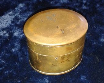 Vintage Brass Altar Spell Box Hinged