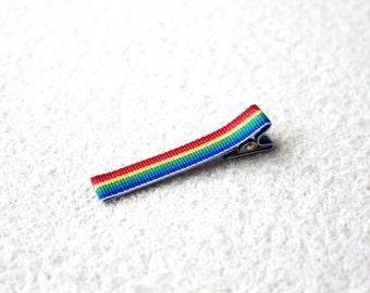 2 Large Rainbow Hair Clips (Pair of 2)