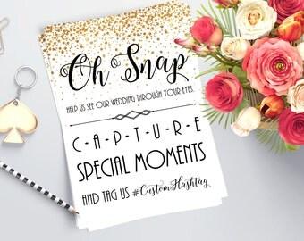 Printable Wedding Hashtag Sign - Wedding Photo Sign - Wedding Decor - Gold Wedding Decor - Guest Photo Sharing Sign - Social Media Sharing