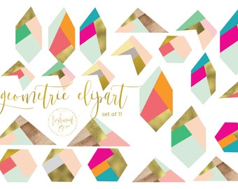 geometric clipart - abstract shapes clipart - boho clipart - geometric shapes clipart - colorblock clipart - freshmint paperie