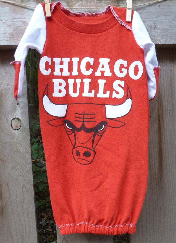 Chicago Bulls baby Basketball NBA Infant Upcycled t shirt