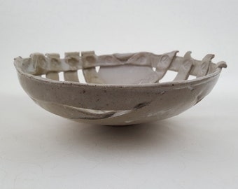 Stoneware fruit basket, hand made