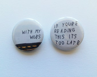 Drake If You're Reading This It's Too Late Pinback Button Set