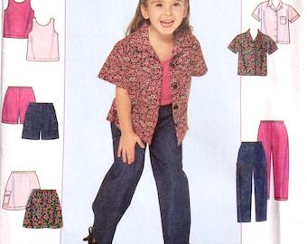 Simplicity 8716,  Child's Shirt, Skirt, Pant, Shorts, Knit Tank Top Pattern, Girls' Pattern, Size 3, 4, 5, 6, Uncut Pattern