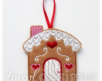 Gingerbread House Christmas Ornament Digital Design File