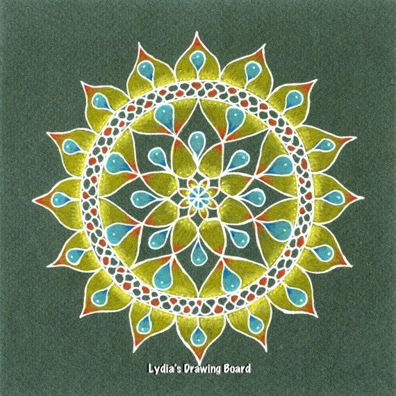 Mandala, Mandala Art, Mandala Wall Art, Mandala Print, Mandala Decor, Dreamy, Peaceful Art, Meditation, Meditation Art, Spiritual Art