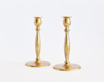 Classic Brass Taper Candlesticks