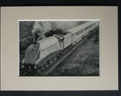 1930s Antique Art Deco Train Print, Available Framed, Railway Art, Silver Jubilee Gift, LNER Class 4 2509 Silver Link Decor, Nigel Gresley