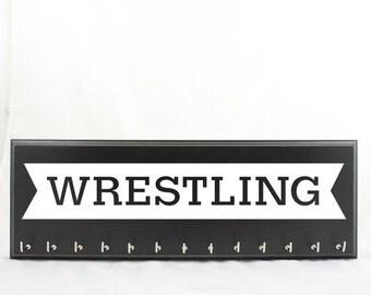 Wrestling Medal Hanger - Wrestling medal display - Wrestling gifts - Wrestling medal holder - holder for wrestling medals Wrestling