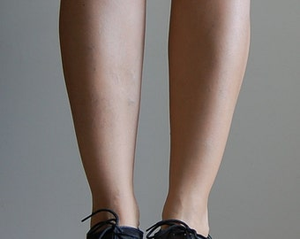 vintage 1980s mesh and leather Oxfords / vintage oxford heels
