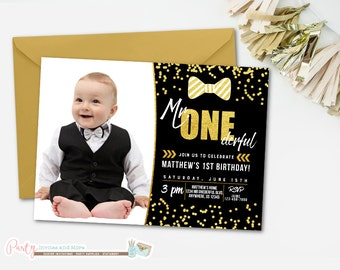 Mr Onederful Birthday Invitation, Bowtie Birthday Invitation, Mr. Onederful Invitation, Little Man Invitation, Little Man Party
