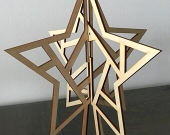 Laser Cut Tree Topper - Star