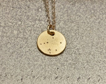LIBRA Constellation, Libra Necklace, Constellation  Necklace, Zodiac Necklace, hand stamped jewelry, astrology jewelry, gift jewelry.