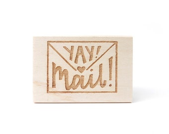 Rubber Stamp - Yay! Mail!
