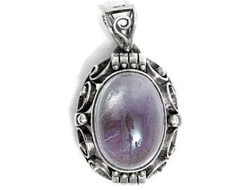 Antique Amethyst Pendant 835 Silver Art Deco Jewelry