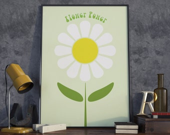 Flower Power. High Quality Print.