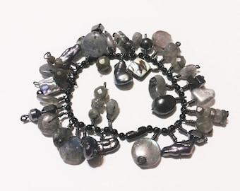 Labradorite & Pearl Bracelet