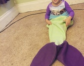 Custom Mermaid Tail Blanket