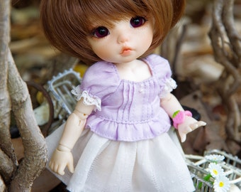 Lati Yellow/ Pukifee - Lovely Daisy Top - Purple Color