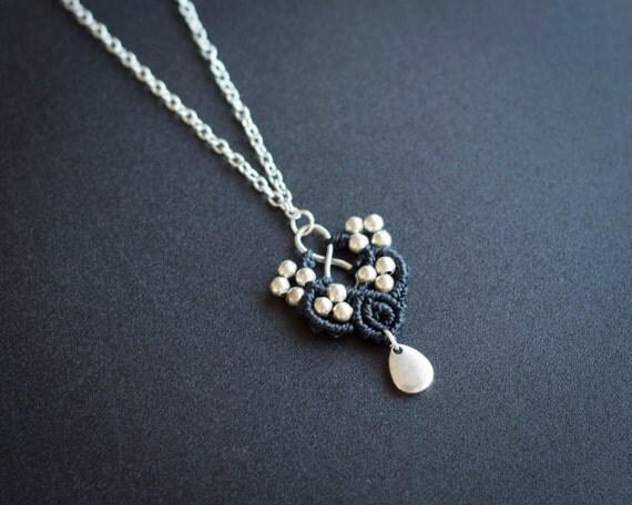Black infinity necklace