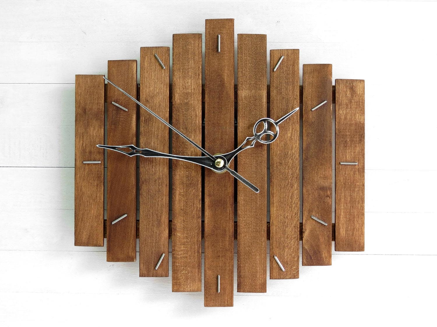 Rustic Kitchen Accessories Rustic Wall Clock Etsy