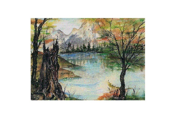 11 x 14  Giclee Print   From an Original Acrylic Painting  by Douglas  Wyoming Artist Joyce Lee